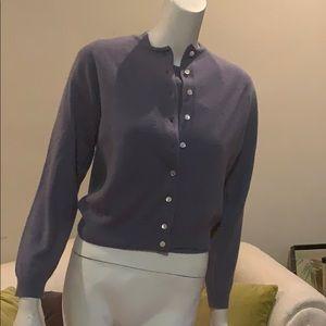 Talbots petites cashmere cardigan sweater set S